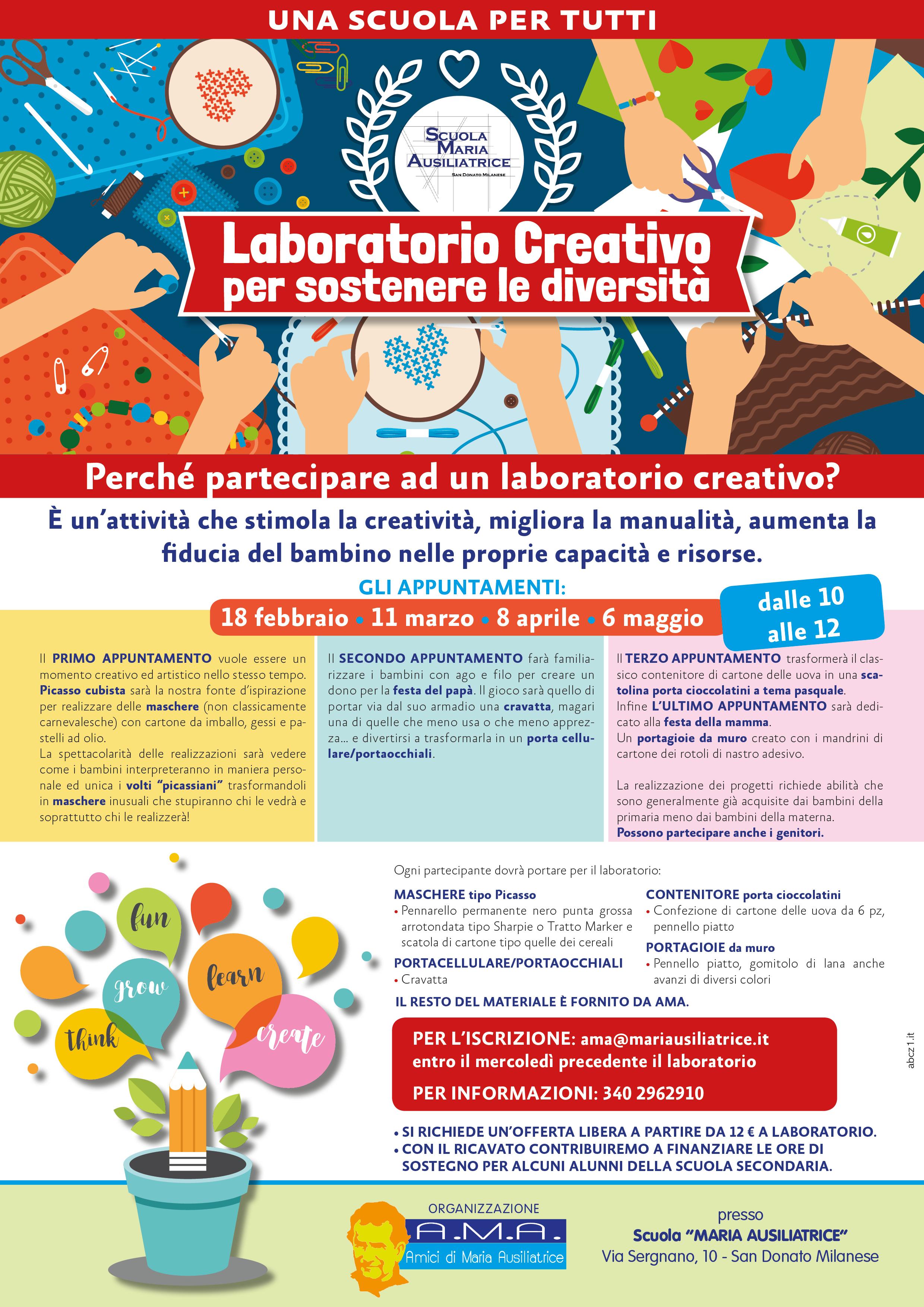 Conosciuto Laboratorio Creativo per le diversità - Scuola Maria Ausiliatrice OM61